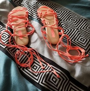 Coral Lace Up Lace Up sandals